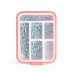 Önmetsző csavar készlet (210db/csomag) rendszerező dobozban