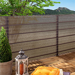 Szőtt árnyékoló háló 85%, fűzőlyukakkal HAVANA (1x5 méter) barna