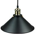Hetti fém csillár (E27) - fekete színű bura