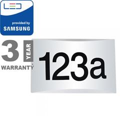 House oldalfali ledes házszámtábla - fehér (10W - 800lm) meleg fehér, Samsung