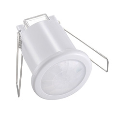 Infra mozgásérzékelő, mennyezetbe süllyeszthető (ø50 mm), fehér