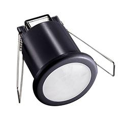 Infra mozgásérzékelő, mennyezetbe süllyeszthető (ø50 mm), fekete