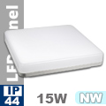 IP44 LED panel falon kívüli - négyzet (15 Watt)  természetes f.