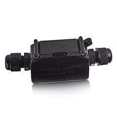 LED reflektorhoz vízmentes kötődoboz, fekete IP65