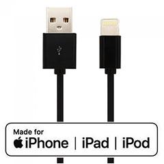 Apple MFi tanúsítványos USB Lighting kábel (1.5 méter) fekete