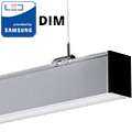 Dimmelhető irodai LED lámpatest (40W) szürke ház - 4000K - két irányba vil.