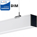 Dimmelhető irodai LED lámpatest (40W) fehér ház - 4000K - két irányba vil.