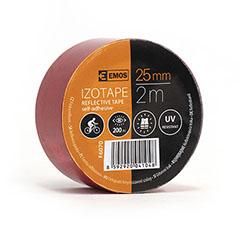 Fényvisszaverő szalag, öntapadós (25mm/2m) piros