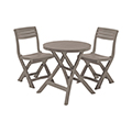 Jazz műanyag kerti bútor, balkon szett - cappuccino