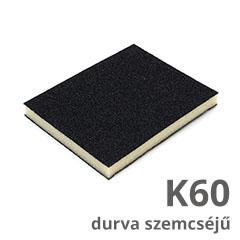 Csiszolószivacs 2 oldalú (K60 durva szemcséjű) vékony