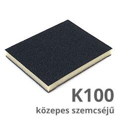 Csiszolószivacs 2 oldalú (K100 közepes szemcséjű) vékony