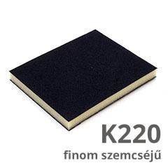 Csiszolószivacs 2 oldalú (K220 finom szemcséjű) vékony