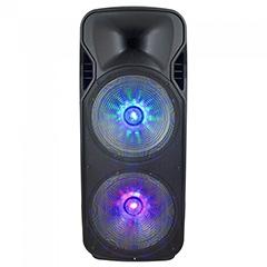 Karaoke görgős hangfal mikrofonnal (150 Watt) akkumulátor, RGB világítás, +1db wireless mikrofon