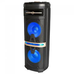 Karaoke görgős hangfal mikrofonnal (120 Watt) akkumulátor, RGB világítás