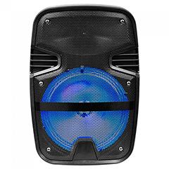 Karaoke görgős hangfal mikrofonnal (15 Watt) akkumulátor, RGB világítás