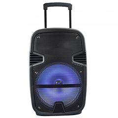 Karaoke görgős hangfal mikrofonnal (35 Watt) akkumulátor, RGB világítás