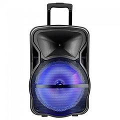 Karaoke görgős hangfal mikrofonnal (50 Watt) akkumulátor, RGB világítás