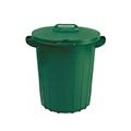 Kerek műanyag kültéri szemetes 90L - zöld