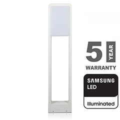 Modern kerti LED állólámpa, fehér (10W/900lm) 80 cm, természetes fehér, Samsung chip