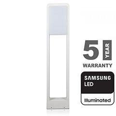 Modern kerti LED állólámpa, fehér (10W/900lm) 80 cm, hideg fehér, Samsung chip