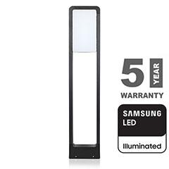 Modern kerti LED állólámpa, fekete (10W/650lm) 80 cm, meleg fehér, Samsung chip
