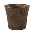 Conic planter műrattan virágláda 56,5L - mokka