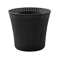 Conic planter műrattan virágláda 56,5L - antracit