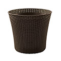 Conic planter műrattan virágláda 56,5L - whiskey barna