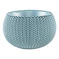 Cozy S felakasztható műanyag virágláda - fém kék