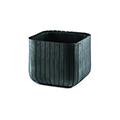 Cube planter l műanyag virágláda - antracit