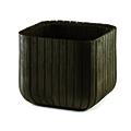 Cube planter l műanyag virágláda - whiskey barna