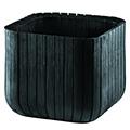 Cube planter műanyag virágláda - antracit