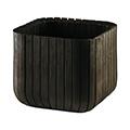 Cube planter műanyag virágláda - whiskey barna