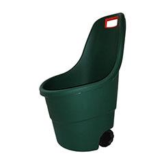 Easy go műanyag kerti talicska 55L - sötét zöld