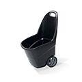Easy go XL műanyag kerti talicska 62L - fekete - világos szürke