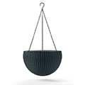 Hanging Sphere Planter - műrattan virágkaspó - antracit
