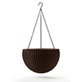 Hanging Sphere Planter - műrattan virágkaspó - whiskey barna