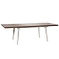 Harmony szétnyitható műanyag kerti asztal - fehér - világos barna