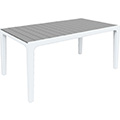 Harmony műanyag kerti asztal - fehér - világos szürke