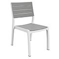 Harmony műanyag kerti szék - fehér - világos szürke