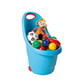 Kiddie's go műanyag gyerek talicska - világos kék