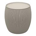 Knit single table műanyag tárolós asztal 41L - fém szürke