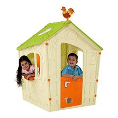 Magic playhouse műanyag kerti játékház - világos zöld - ekrü