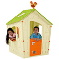 Magic playhouse műanyag kerti játékház - ekrü - világos zöld