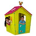 Magic playhouse műanyag kerti játékház - világos zöld - lila