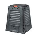 Mega composter műanyag komposztáló aljzat nélkül 650L - fekete