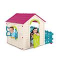 My garden house műanyag kerti játékház - lila - ekrü