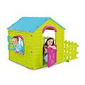My garden house műanyag kerti játékház - világos zöld - kék