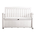 Patio bench műanyag kerti pad/tároló 227L - fehér