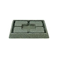 Piazza műanyag virágcserép alátét 21 cm (5 db/csomag) - márványzöld